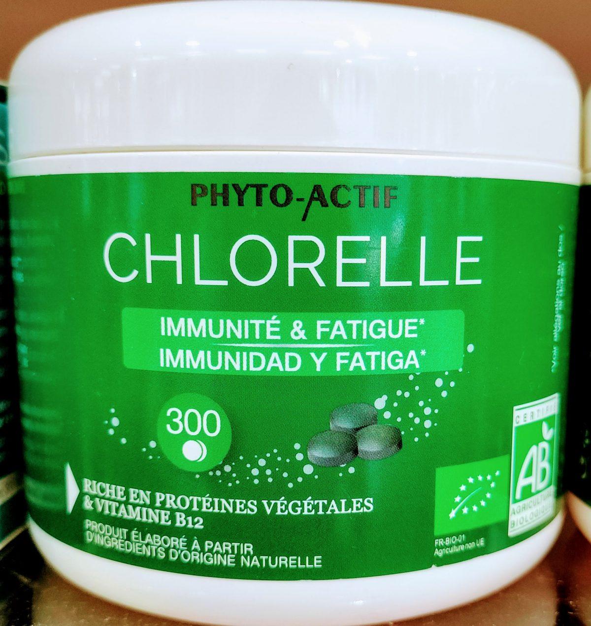 La chlorella Phyto-Actif proteínas vitaminas y nutrientes vitaminas B12 B9 y betacaroteno (provitamina A) contribuyen al sistema inmunitario y reducir cansancio