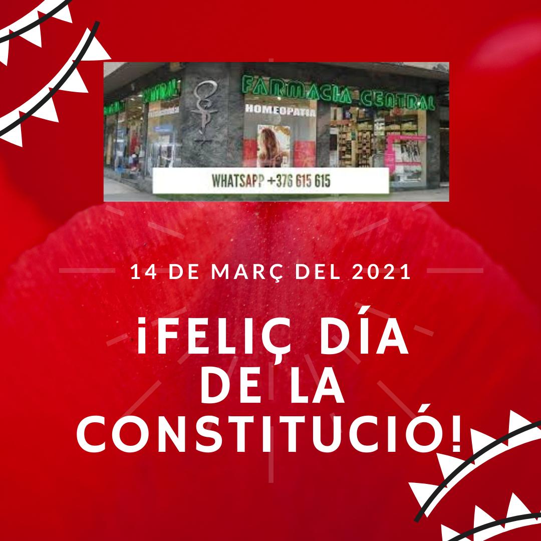 Feliç dia de la Constitució – Farmàcia Central – 14 de març del 2021